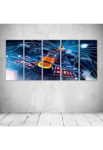 Quadro Decorativo - Formula 1 Red Bull Rb4 Race Car Racing - Composto De 5 Quadros - Multicolorido - Dafiti