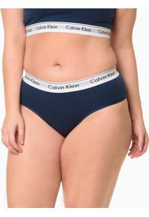 Calcinha Modern Cotton Plus Size - Marinho - 2Xl