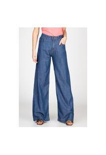 Calça Jeans Leve Bloom Pantalona Azul