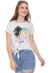 Camiseta Fiveblu Santa Mônica Aplicações Branca