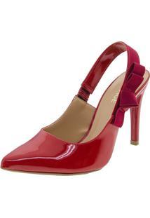 Sapato Feminino Chanel Vermelho Mixage - 3578982