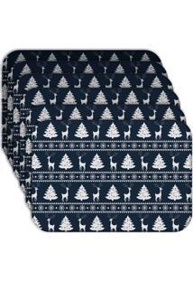 Jogo Americano - Love Decor Premium Natal Kit Com 6 Peças