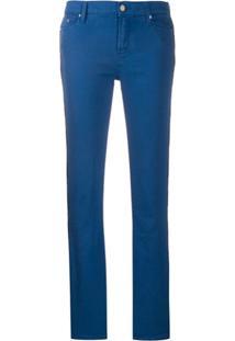 Karl Lagerfeld Calça Com Recorte Lateral De Logo - Azul