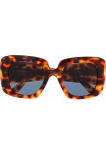 Balenciaga Blow Square-Frame Sunglasses - Marrom