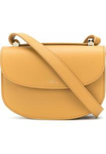 A.P.C. Bolsa Transversal Genève Mini - Amarelo