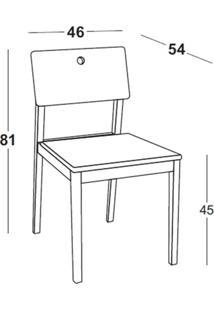 Cadeira Flip Cor Cacau Com Encosto Azul