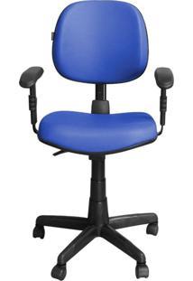 Cadeira Pethiflex Ce-Ergonômica Giratória Couro Azul
