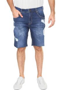 Bermuda Jeans Forum Slim Paul Azul