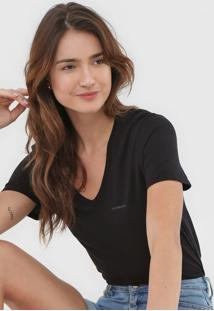 Blusa Calvin Klein Jeans Logo Preta