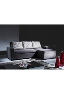 Sofá Cama Com Chaise Vizzi Tecido Sintético Branco Dt 01022780
