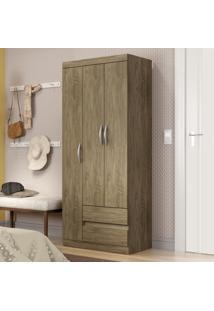 Guarda-Roupa 3 Portas 2 Gavetas Rp1032 Wood - Decibal Móveis