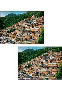 Jogo Americano Colours Creative Photo Decor - Rocinha No Rio De Janeiro - 2 Peças