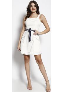 5c31ed0aa2 Privalia. Vestido Com Amarração- Off White ...