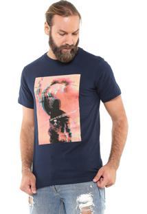 Camiseta Fiveblu Manga Curta Rebellion Azul-Marinho