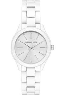 Relógio Michael Kors Feminino Slim Runway - Mk3908/1Kn Mk3908/1Kn - Feminino-Branco