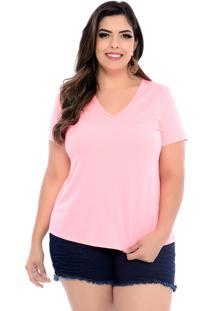 Blusa Arimath Plus T-Shirt Plus Size Rosa Neon-60