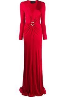 Philipp Plein Vestido De Festa - Vermelho