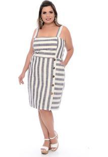 Vestido Em Linho Plus Size