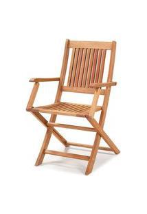Cadeira Dobravel Primavera Com Bracos Stain Jatoba - 34807 Jatoba