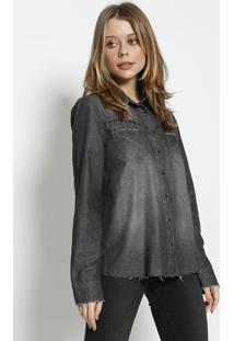 Camisa Com Rebites - Preta - Colccicolcci