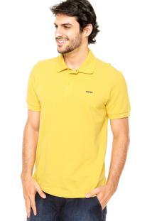 Camisa Polo Sommer Básica Bordado Amarela