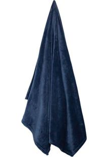 Cobertor Casal Velour Azul Marinho (180X220Cm)