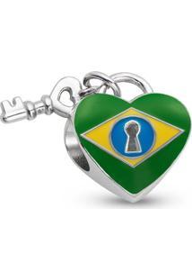 Pingente Life Coração Brasileiro