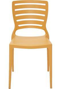 Cadeira Sofia Sem Braço Encosto Vazado Laranja Tramontina