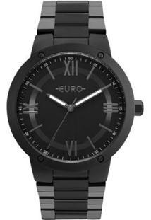 Relógio Feminino Euro Eu2035Ymv/4P Pulseira Aço - Feminino-Preto