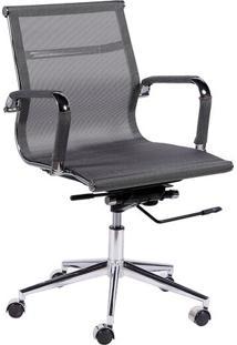 Cadeira Office Eames Em Tela- Cinza- 59X54,5X46,5Cm