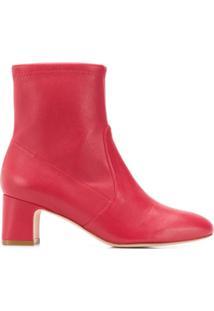 Stuart Weitzman Ankle Boot - Vermelho
