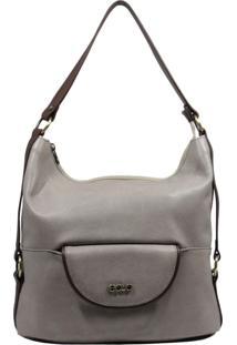 Bolsa De Couro Recuo Fashion Bag Sacola Cinza