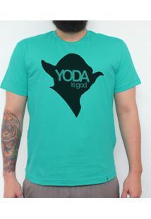 Yoda Is God - Camiseta Clássica Masculina
