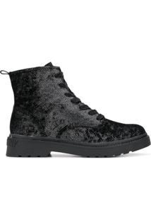 Calvin Klein Jeans Ankle Boot Com Textura - Preto
