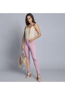 Calça Sarja Com Elastano Cropped Bali Persefone Lez A Lez 2215 Feminina - Feminino