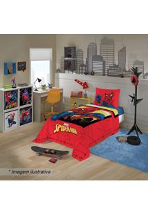 Jogo De Cama Spider Manâ® Solteiro- Vermelho & Amarelo