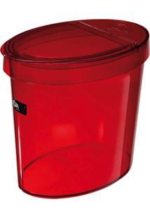 Lixeira Oval Retrô Vermelha Coza 5L Ref-20931/0008