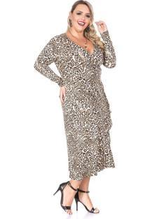 Vestido Midi Savana Plus Size