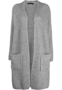 Incentive! Cashmere Open-Front Cashmere Cardi-Coat - Cinza