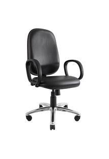 Cadeira Presidente Don. Sintético. Encosto Alto. Mecanismo Relax. Apoio Para Braços. Base Alumínio. Prolabore Produtos Ergonômicos