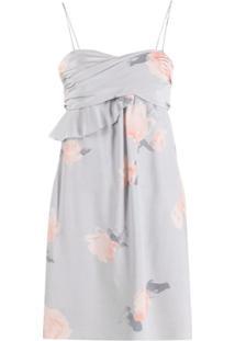 Emporio Armani Vestido Com Estampa De Rosas - Cinza