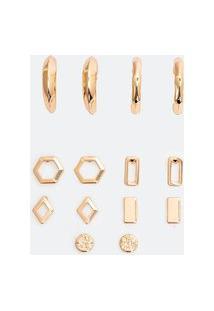 Kit 7 Brincos Em Metal Com Formatos Variados | Accessories | Dourado | U
