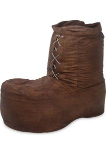 Puff Infantil Bota Courino Caramelo - Stay Puff