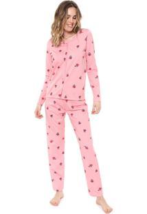 Pijama Malwee Liberta Floral Rosa