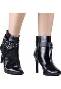 84506d97a8 ... Bota Dakota Ankle Boot Cano Curto Verniz