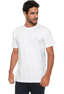 Camiseta Reserva Onda Geométrica Branca