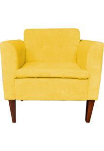 Poltrona Lia Decorativa Quarto Sala - Amarelo