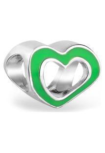 Pingente Life Coração Neon Verde