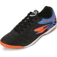 Tênis Futsal Dray Dr18-365Co Preto-Azul 764f559b1d889