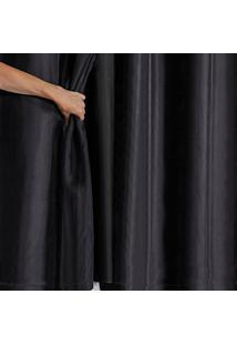 Cortina Blackout Pvc Com Tecido Voil 2,00 M X 1,40 M Preto - Multicolorido - Dafiti